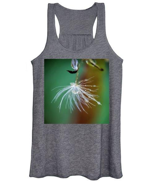 Dandelion Water Drop Macro 2 Women's Tank Top