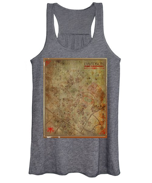 Davidson College Map Women's Tank Top
