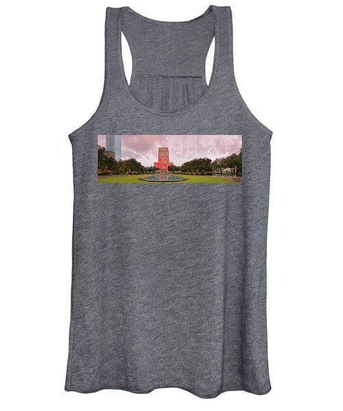 Dawn Panorama Of Houston City Hall At Hermann Square - Downtown Houston Harris County Women's Tank Top