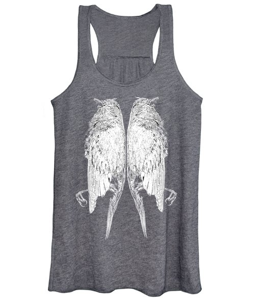 Dead Birds Tee White Women's Tank Top