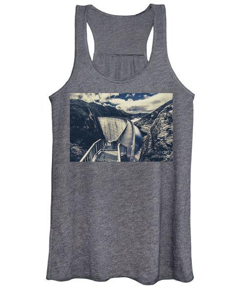 Deep Blue Ravine   Women's Tank Top