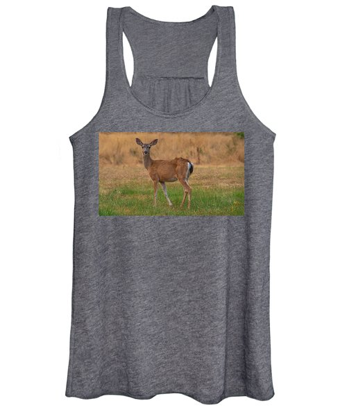 Deer At Sunset Women's Tank Top