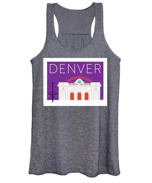 Denver Union Station/purple Women's Tank Top