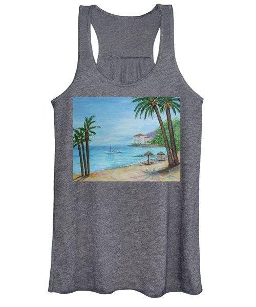 Descanso Beach, Catalina Women's Tank Top