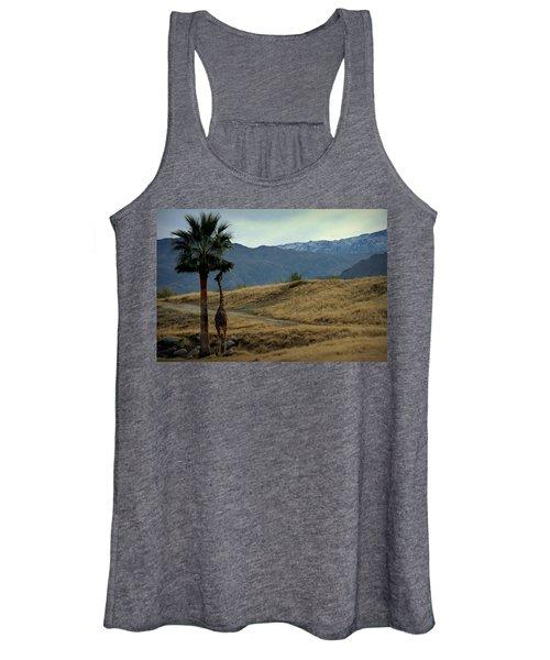 Desert Palm Giraffe 001 Women's Tank Top