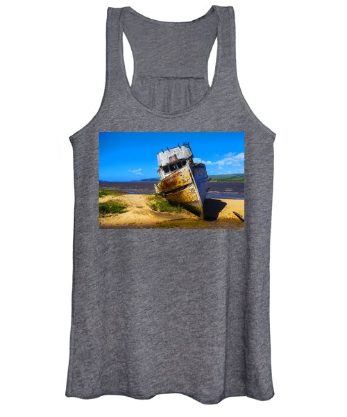 Deserted Beached Boat Women's Tank Top
