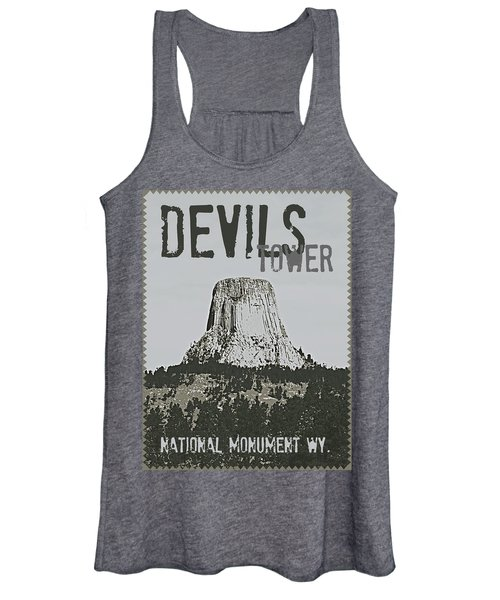 Devils Tower Stamp Women's Tank Top