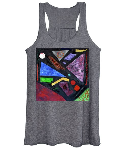 Women's Tank Top featuring the painting Differences by Michael Lucarelli