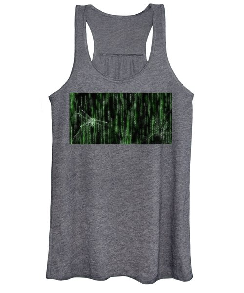 Digital Dragonfly Women's Tank Top