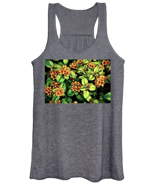 Digital Painting Quilted Garden Flowers 2563 Dp_2 Women's Tank Top