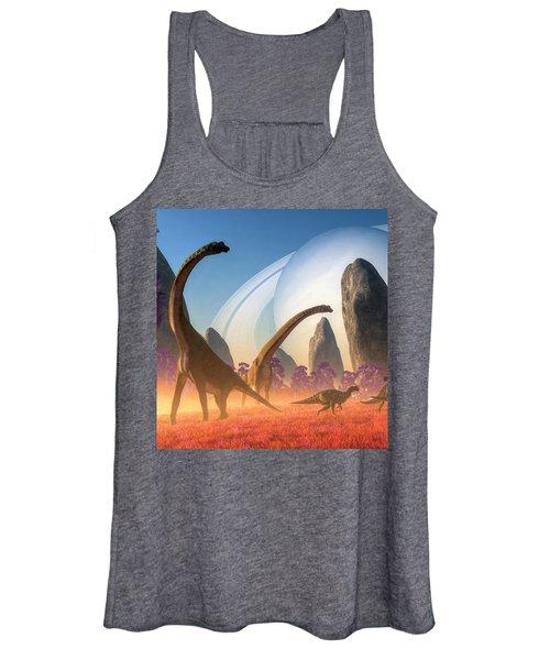 Dinosaur Moon Women's Tank Top