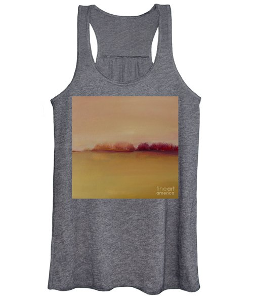 Distant Red Trees Women's Tank Top