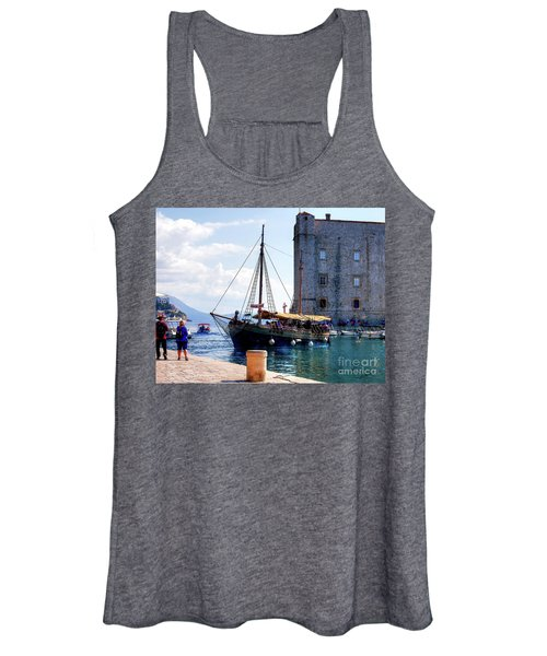 Docking In Dubrovnik Harbour Women's Tank Top