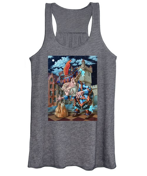 Dog Suddenly Gained Its Gracious Host  Women's Tank Top