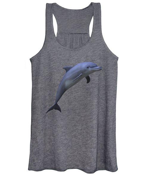 Dolphin In Ocean Blue Women's Tank Top