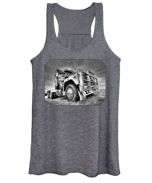 Done Hauling - Black And White Women's Tank Top