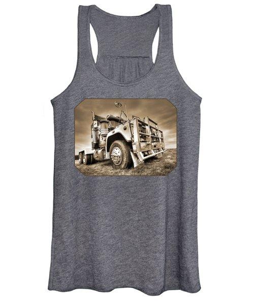 Done Hauling - Sepia Women's Tank Top