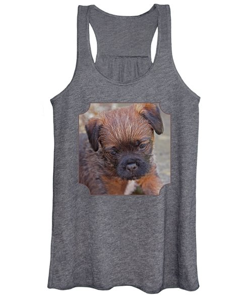 Don't Leave Me - Border Terrier Pupppy Women's Tank Top