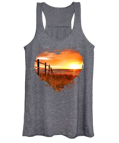 Door County Europe Bay Fence Sunrise Women's Tank Top