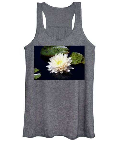 Dotty White Lotus And Lily Pads 0030 Dlw_h_2 Women's Tank Top