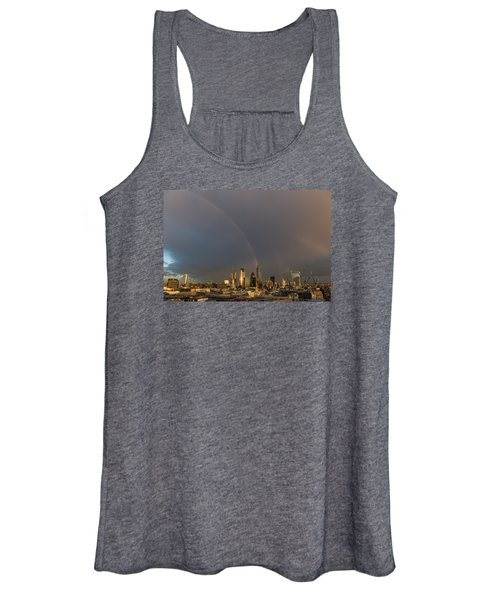 Double Rainbow Over The City Of London Women's Tank Top
