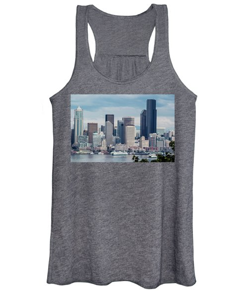 Downtown Seattle And Ferries Women's Tank Top