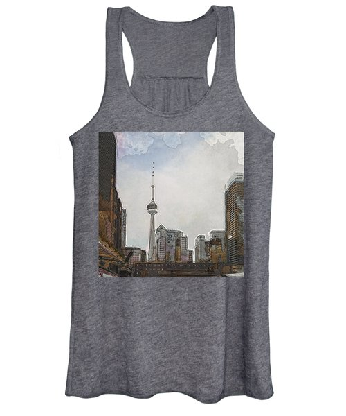 Downtown Toronto In Color Women's Tank Top