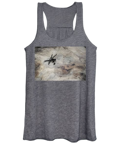 Dragonfly On Solid Ground Women's Tank Top