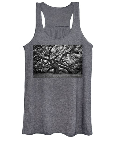 Dramatic Angel Oak In Black And White Women's Tank Top