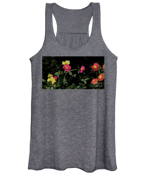 Dramatic Colorful Flowers Women's Tank Top