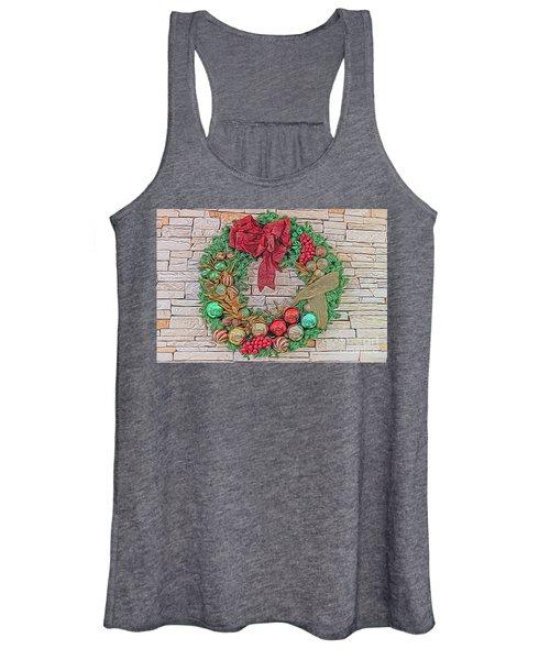 Dreamy Holiday Wreath Women's Tank Top
