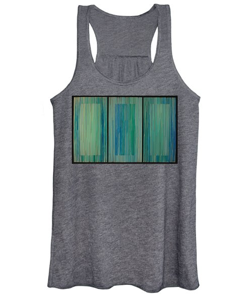 Drippings Triptych Women's Tank Top