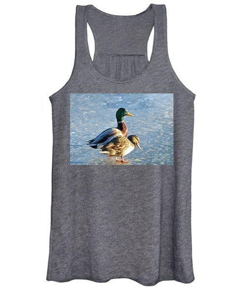 Duck Pair On Frozen Lake Women's Tank Top