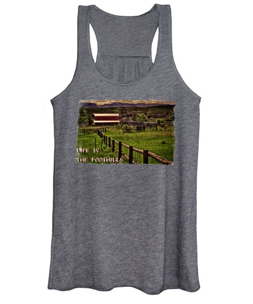 Early Morning Pastures In The Foothills Women's Tank Top