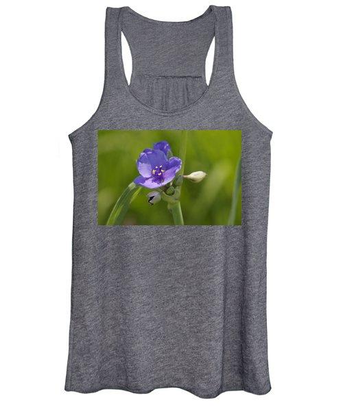 Early Spiderwort Women's Tank Top