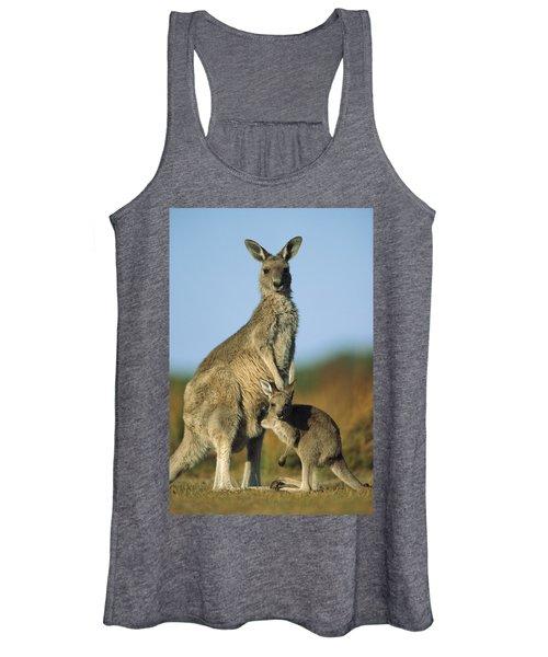 Eastern Grey Kangaroo And Her Joey Women's Tank Top