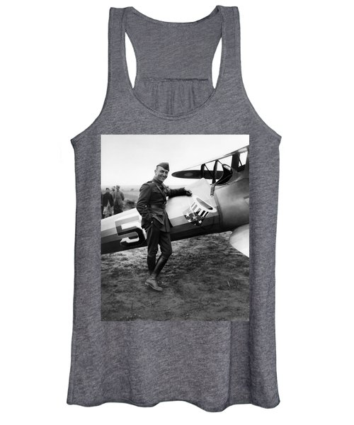 Eddie Rickenbacker - Ww1 American Air Ace Women's Tank Top