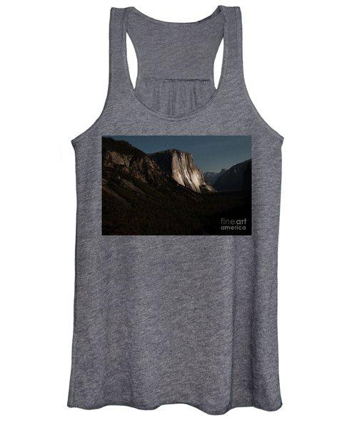 El Capitan In Moonlight At Yosemite Women's Tank Top