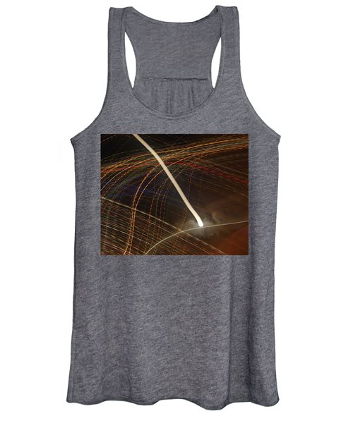 Women's Tank Top featuring the pyrography Electric Universe by Michael Lucarelli