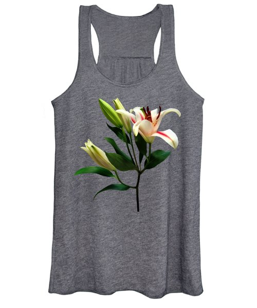 Elegant Lily And Buds Women's Tank Top