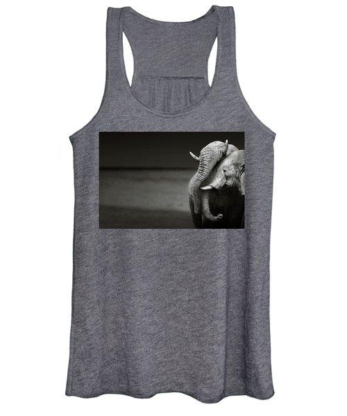Elephants Interacting Women's Tank Top