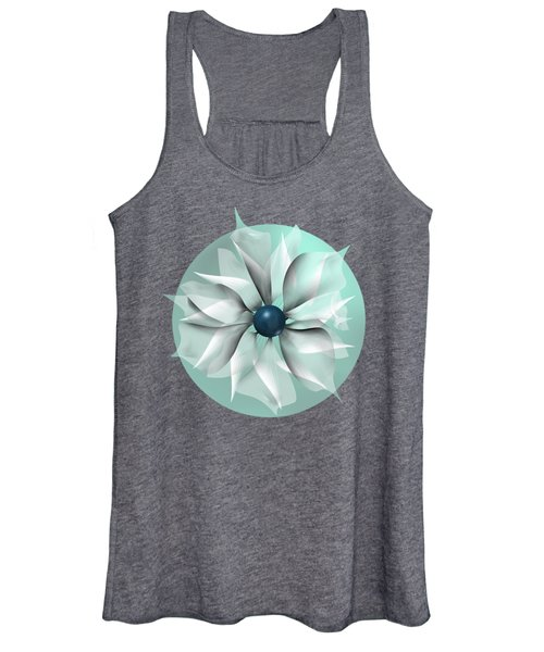 Emerald Flower Women's Tank Top