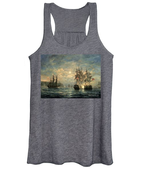 Engagement Between The 'bonhomme Richard' And The ' Serapis' Off Flamborough Head Women's Tank Top