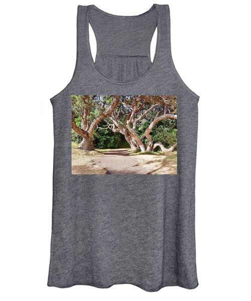 Entrance To Kare Kare Black Sand Beach Women's Tank Top