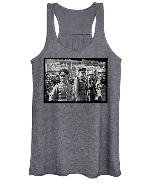 Erwin Rommel And Captured British Soldiers Tobruck Libya 1942 Color Added 2016  Women's Tank Top