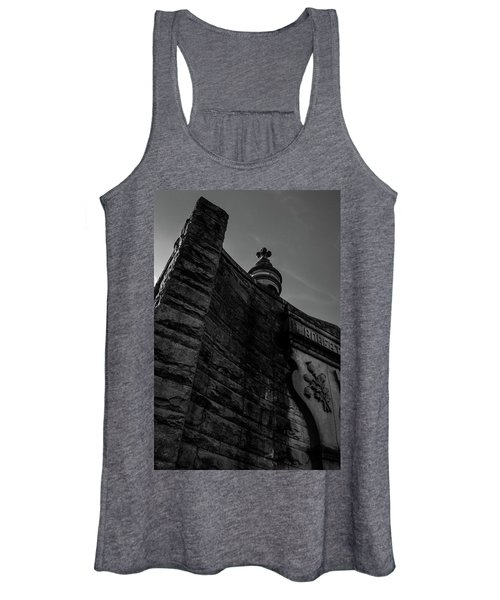 Eternal Stone Structure Bw Women's Tank Top