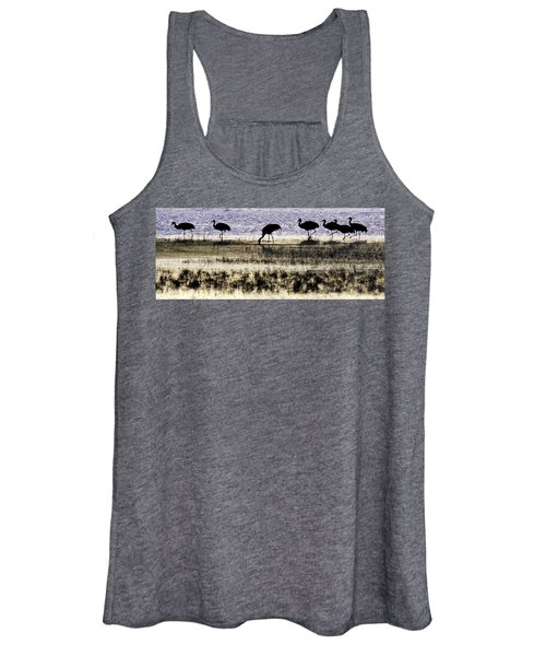 Women's Tank Top featuring the photograph Evening Silhouette by Marla Craven