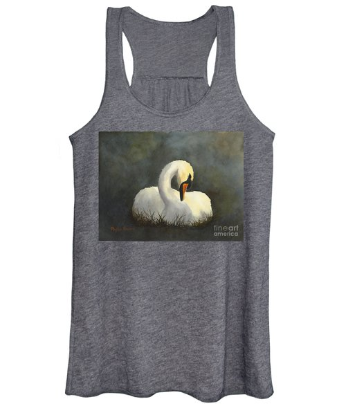 Evening Swan Women's Tank Top