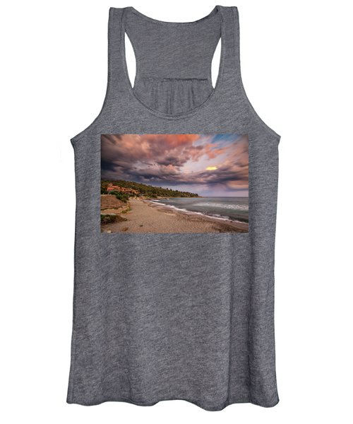 Explosion Of Colored Clouds Women's Tank Top