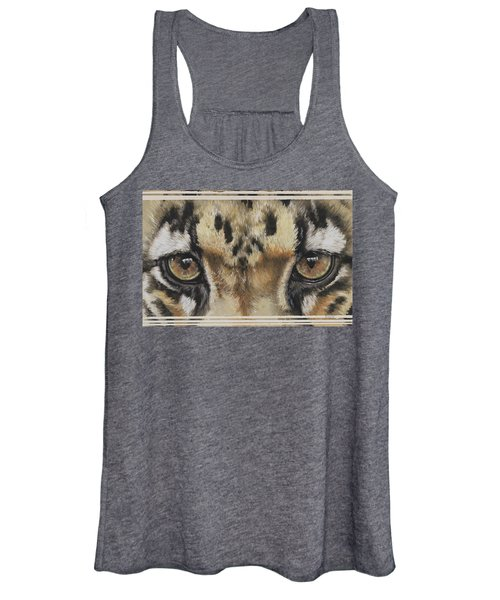 Clouded Leopard Gaze Women's Tank Top
